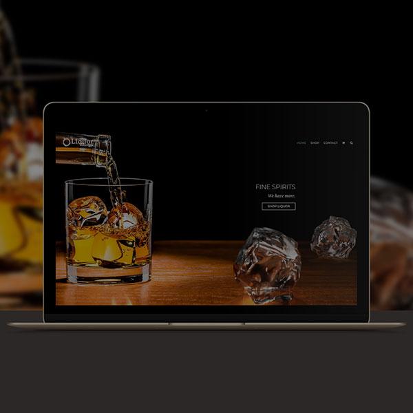 liquor website design